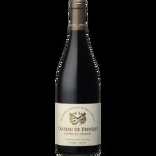 Vin rouge AOP Côte du Rhône Château de Tresques hommage à N./Beauharnais, bouteille de 75cl