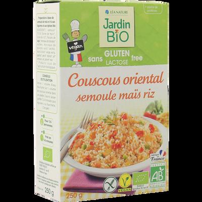 Semoule mais-riz à l'orientalsans gluten sans lactose * JARDIN BIO   250g