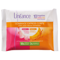 Lingettes gommage corps LINEANCE, x10