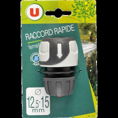 Raccord rapide femelle Aquastop U, 12,5/15mm, soft touch