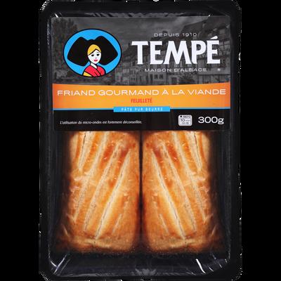 Friands gourmands à la viande, TEMPE, 2x150g, soit 300g