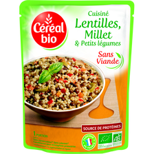 Doy lentilles ,millet et petits légumes CEREAL BIO, 250g