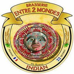 INDIAN BIERE ROUSSE BRASSERIE ENTRE 2 MONDES 75 cl