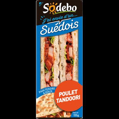 Sandwich pain polaire et poulet tandoori SODEBO,135g