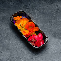Mini bataille de fleurs comestibles 10/15 fleurs, France, barquette 15g