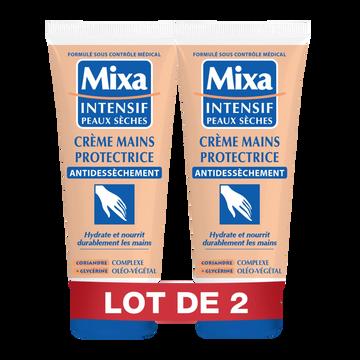 Mixa Crème Protectrice Pour Les Mains Anti-dessèchement Mixa, 2 Tubes De 100ml
