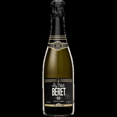 Vin blanc de blancs sans alcool Le Petit Beret, bouteille de 75cl