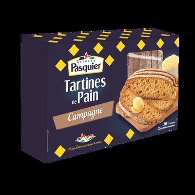 Tartine de pain campagne PASQUIER, 167g
