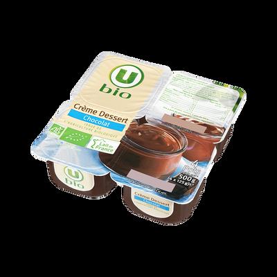 Crème dessert au chocolat U BIO, 4x125g