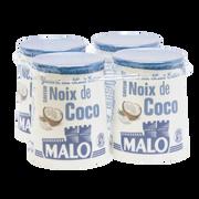 Malo Yaourt Au Lait Entier Arômatisé Coco, Malo, Pot, Carton, 4x125g