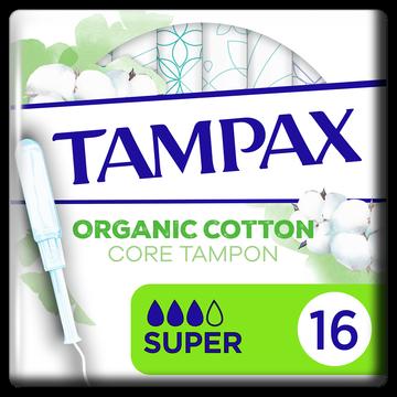 Tampax Tampon 100% Coton Organic Super Tampax, X16