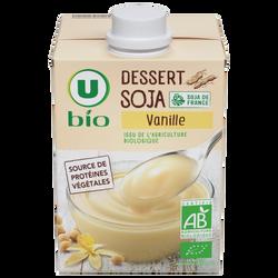 Dessert soja à la vanille U BIO brique 525g