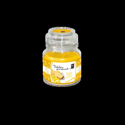 Bougie tentation gourmande 4 quart au citron by INCANTO, 130g