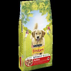 Croquettes Vitafit pour chien adulte Active aux viandes de boeuf FRISKIES, sac de 10kg