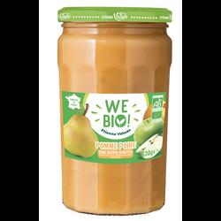 Purée pomme poire sans sucre ajouté bio WE BIO, 630g