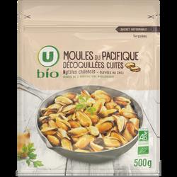 Moules du Pacifique cuites dé-coquillées U BIO, 500g