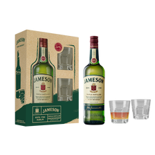 Jameson Irish Whiskey , 40°, 70cl+coffret 2 Verres Tumble Fa 19