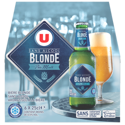 Bière sans alcool U, 6x25cl