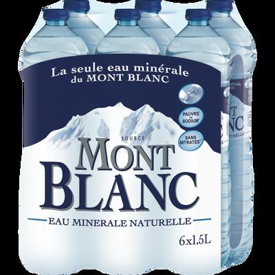 Eau minérale naturelle MONT BLANC, 6 bouteilles en plastique de 1,5l