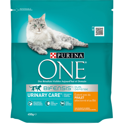 Croquettes pour chat adulte Urinary Care au poulet blé Purina ONE,450g