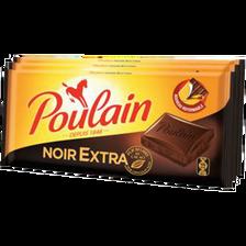 Tablette de chocolat noir extra POULAIN, 3 lots de 100g, 300g