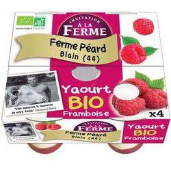 YAOURT A LA FRAMBOISE FERMIER BIO 4X125G PEARD