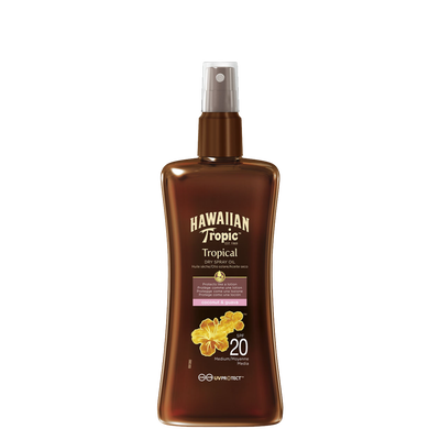 Spray solaire spf 20 HAWAIIAN TROPIC, flacon de 200ml