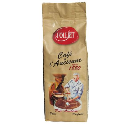 Café à l'ancienne moulu FOLLIET, paquet de 250g