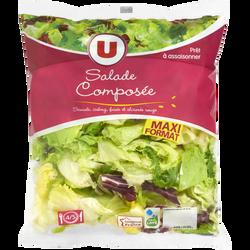 Salade maxi composée(iceberg,scarole,frisée,chicorée rouge), U, sachet350g