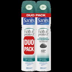 Déodorant natur.protect extra efficacité SANEX ato.2x200ml