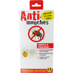 Stickers anti-mouches, x4