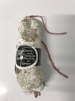 Saucisson sec de taureau à la fleur de sel de camargue Teyssier salaisons 250g