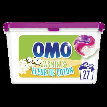 Omo Lessive Capsules 3en1 Jasmin & Fleur De Coton Omo X27 Lavages