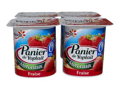 PANIER FRAISE 0% 4X125GR