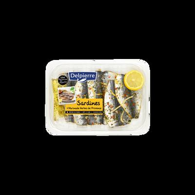 Filets de sardines citron/herbes de provence, transformés en France, barquette de 275g