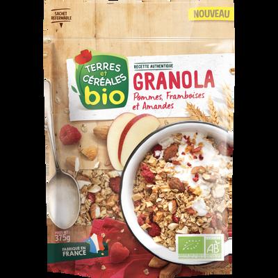 Granola pommes framboises amandes bio Terres & Céréales, 375g