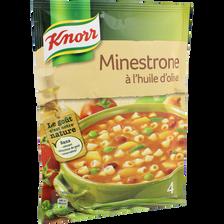 Soupe Minestrone à l'huile olive déshydratée KNORR, sachet de 104g, 1l