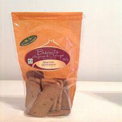 Biscuits à la farine de Châtaigne aux Ecorces d'Orange  BIO 180gr