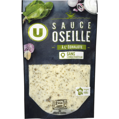 Sauce oseille échalote U, élaborée en France, sachet de 180g