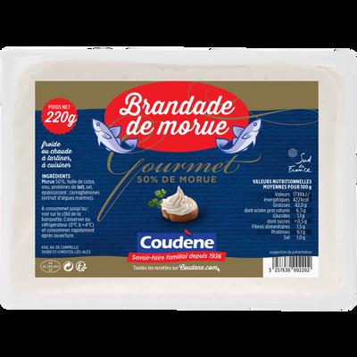 "Brandade de morue ""gourmet"" COUDENE, barquette de 220g"