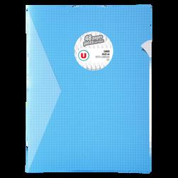 Grand cahier piqure U, petits carreaux, 24x32cm, 48 pages, bleu