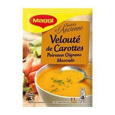 Soupe déshydratée carottes, poireaux, oignons MAGGI, 68g,