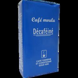Café moulu 100% robusta décaféiné, paquet de 250g