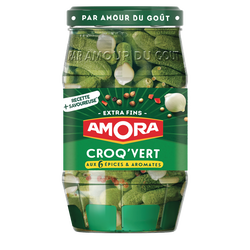 Cornichons extra-fins Croq'Vert AMORA, bocal 205g