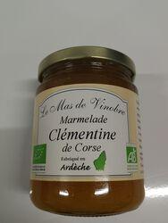 Marmelade aux clémentines de corse bio Le mas de Vinobre 320g