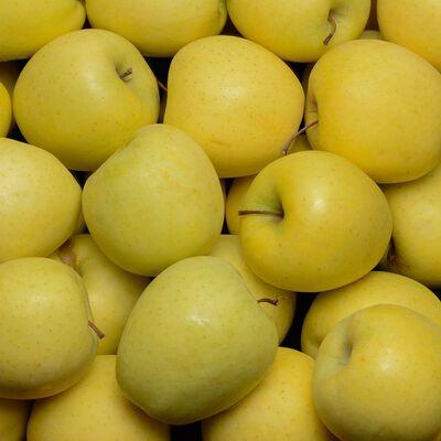 Pomme Golden Delicious, U, calibre 115/150, catégorie 1, France, barquette 1,4kg