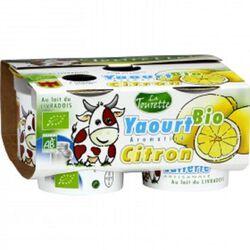 Yaourt bio au lait entier aromatisé citron 4x125g Laiterie La Tourette