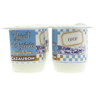 YAOURTS FERMIER COCO X4 CAZAUBON