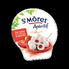 Fromage au lait pasteurisé apéritif billes de tomate SAINT MORET, 28%de MG, 100g