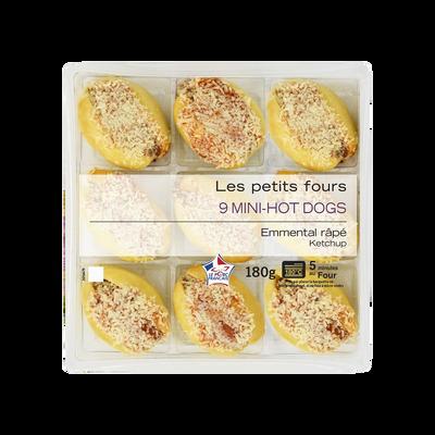 Mini hot dog ketchup, MIX BUFFET, 9 pièces, 180g